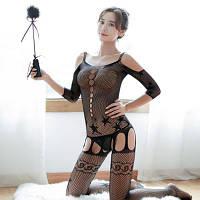 Сексуальный бодистокинг.Розкишний эротический бодистокинг Орлы (Черный) Размер: универсал. (XS-XL)
