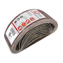Лента шлифовальная 75x533 мм, зерно 36, уп. 10 шт. INTERTOOL BT-0403