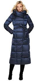 Трендова куртка жіноча колір синій оксамит модель 31056