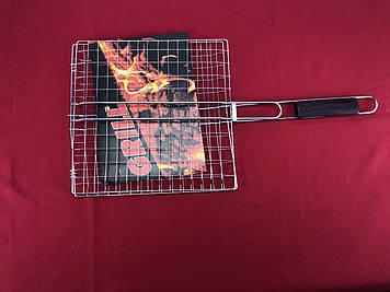 Гриль-сетка с деревянной ручкой 30x30