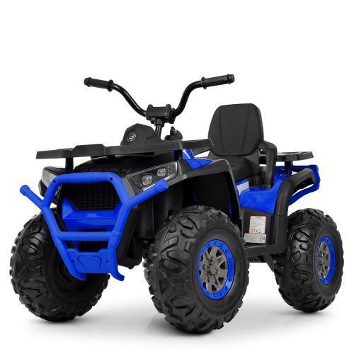 Электроквадроцикл дитячий M 4081EBLR-2-4 чорно-синій