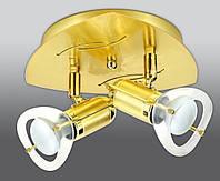 Спот направляемый светильник (спот светильник направленного света) золотой с матовым золотом E14 2*40w,Watc