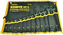 Набір рожково-накидних ключів Mastertool - 12 шт. (6-22 мм) холоднокатаний