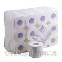Туалетная бумага белая бытовой рулон Mirus VIP 3-х слойная целлюлоза, фото 3