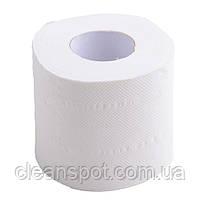 Туалетная бумага белая бытовой рулон Mirus VIP 3-х слойная целлюлоза, фото 4