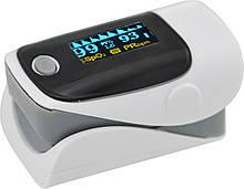 Пульсометр оксиметром на палець (пульсоксиметр) AB-80 Grey