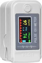 Пульсометр оксиметром на палець (пульсоксиметр) LK89 White OLED (14629)