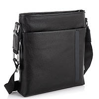 Мужская кожаная сумка через плечо черная Tiding Bag A25F-9913-3A, фото 1