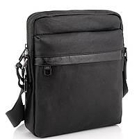 Класична чоловіча шкіряна сумка через плече чорна Tiding Bag 8721A