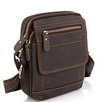 Мужская кожаная сумка коричневая Tiding Bag t2101, фото 1