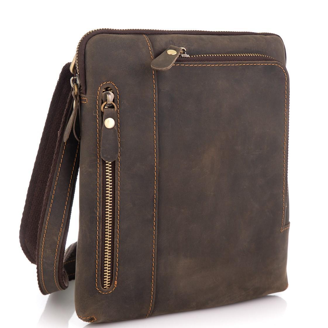 Сумка через плече чоловіча коричнева Tiding Bag t0030R