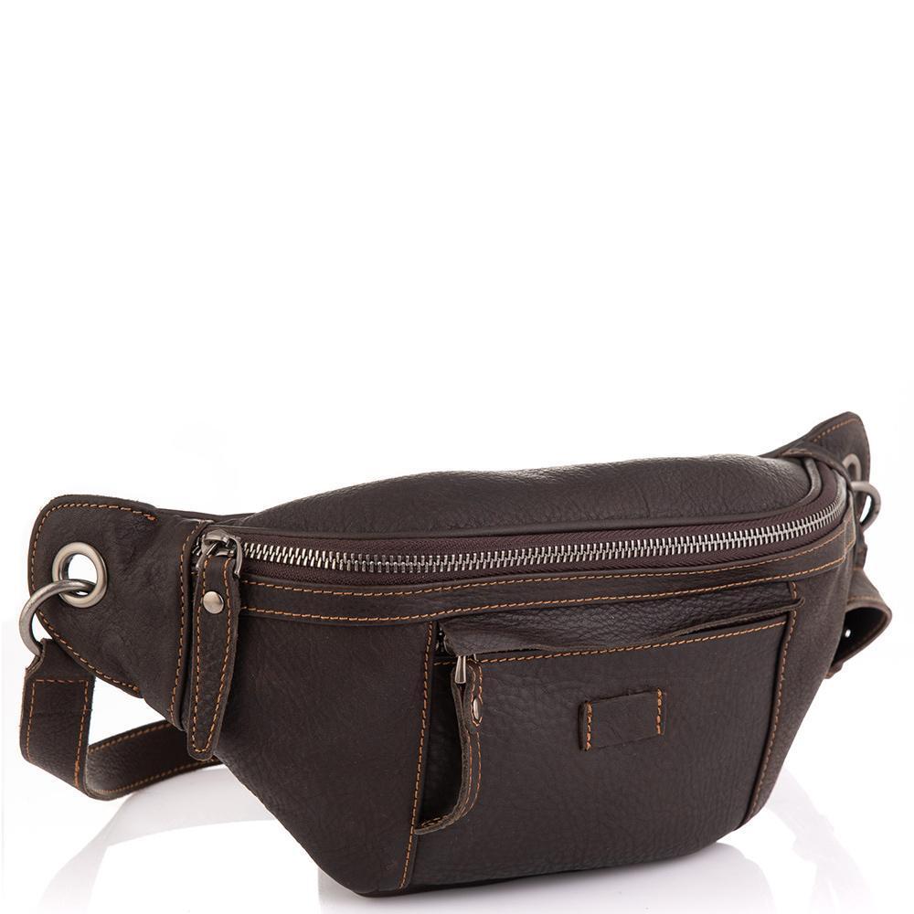 Чоловіча шкіряна сумка на пояс Tiding Bag t2103DB