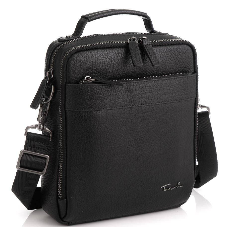 Кожаная сумка через плечо в черном цвете Tavinchi TV-S010A