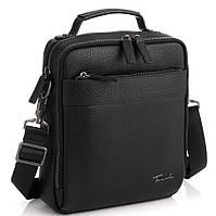 Кожаная сумка через плечо в черном цвете Tavinchi TV-S010A, фото 1