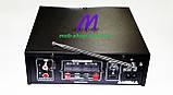 Підсилювач звуку UKC SN-004BT USB+SD+FM+Bluetooth (домашній стерео підсилювач звуку з караоке, блютуз), фото 4