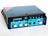 Підсилювач звуку UKC SN-666BT USB FM радіо MP3 Bluetooth підсилювач звуку з юсб, фото 2