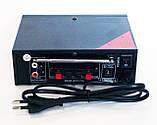Підсилювач звуку UKC SN-666BT USB FM радіо MP3 Bluetooth підсилювач звуку з юсб, фото 3