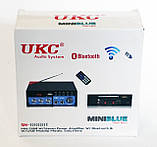 Підсилювач звуку UKC SN-666BT USB FM радіо MP3 Bluetooth підсилювач звуку з юсб, фото 5