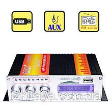 Підсилювач звуку Sony VA-502R USB, SD FM радіо MP3 (домашній стерео підсилювач звуку)