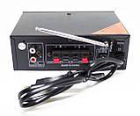 Підсилювач звуку BM AUDIO Bluetooth BM-600BT USB, SD FM радіо MP3 (домашній стерео-підсилювач звуку з блютуз), фото 4