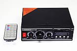 Підсилювач звуку BM AUDIO Bluetooth BM-700BT USB, SD FM радіо MP3 (домашній стерео підсилювач звуку з блютуз), фото 2