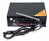 Підсилювач звуку BM AUDIO Bluetooth BM-700BT USB, SD FM радіо MP3 (домашній стерео підсилювач звуку з блютуз), фото 3