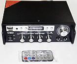 Підсилювач звуку UKС SN-555BT Bluetooth USB, SD FM радіо MP3 (домашній стерео підсилювач звуку з караоке,, фото 4