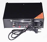 Підсилювач звуку UKС SN-555BT Bluetooth USB, SD FM радіо MP3 (домашній стерео підсилювач звуку з караоке,, фото 5