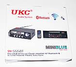 Підсилювач звуку UKС SN-555BT Bluetooth USB, SD FM радіо MP3 (домашній стерео підсилювач звуку з караоке,, фото 6
