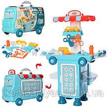 Дитячий ігровий набір юного лікаря 11K08 чемодан-машина
