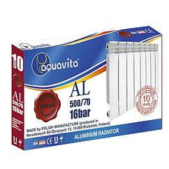 Секція литого алюмінієвого радіатора AQUAVITA 500/70 A4, 16 бар