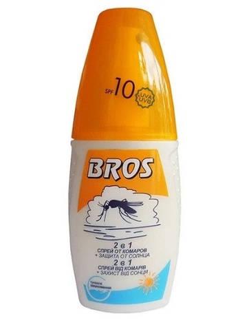 Спрей від комарів 2в1 + захист від сонця 10+ 50 мл, BROS, фото 2