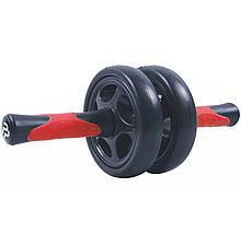Колесо для пресу подвійне PowerPlay 4327 Чорно-червоне