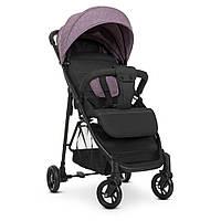 Всесезонная детская прогулочная коляска книжка для девочки до 25 кг BAMBI M 4249-2 Shadow Pink, розовая