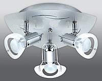 Спот направляемый светильник (спот светильник направленного света) хром с матовым хромом E14 3*40w,Watc