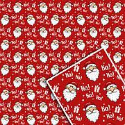 Новогодняя подарочная упаковочная бумага 70*100см 10л/уп №530