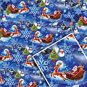 Новогодняя подарочная упаковочная бумага 70*100см 10л/уп №524