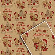 Новогодняя подарочная упаковочная бумага 70*100см 10л/уп №533