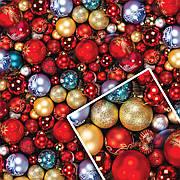 Новогодняя подарочная упаковочная бумага 70*100см 10л/уп №507
