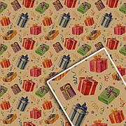 Подарочная упаковочная крафт бумага 70*100см 10л/уп №532К