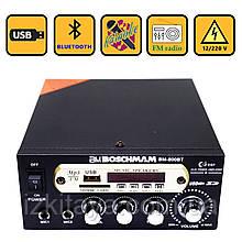Підсилювач звуку BM AUDIO Bluetooth BM-800BT USB, SD FM радіо MP3 (домашній стерео підсилювач звуку з блютуз)