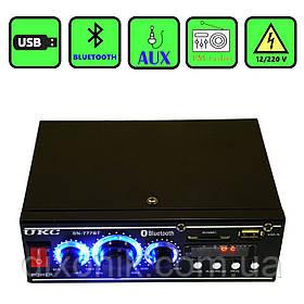 Усилитель звука UKC SN-777BT USB SD FM радио MP3 Bluetooth усилитель с юсб