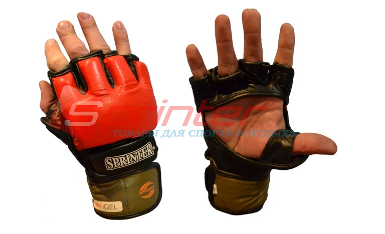 Рукавички для змішаних бойових мистецтв. Натуральна шкіра. Розмір: L.