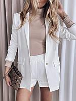Жіночий стильний костюм: шорти і літній піджак з кишенями, фото 1
