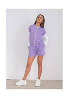 Женский стильный спортивный костюм бомбер и шорты, фото 1