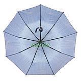 Женский зонтик полуавтомат складной с каплями дождя 9 спиц антиветер Синий качественный Mario 86-1, фото 4