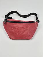 Жіноча поясна сумка паперова бордова 1PSBx6