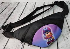 Stars детская сумка бананка на пояс старс Капитан Гавс черный нейлон #1
