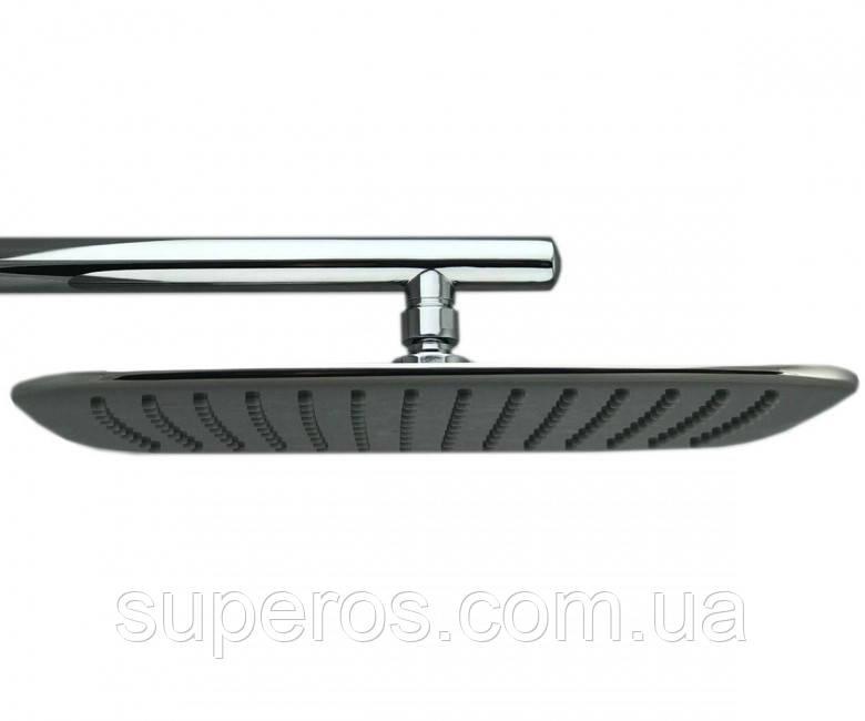 Лейка прямоугольная с закруглёнными краями для душа Идеальное зеркало 30*20 см LD-11.А06-320