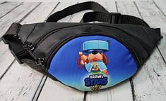 Stars детская сумка бананка на пояс старс Капитан Гавс черный нейлон #2
